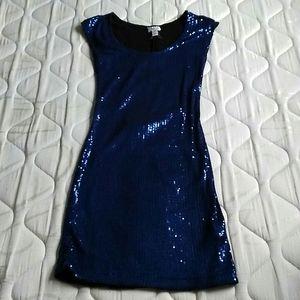 Blue Sequence Bodycon Dress
